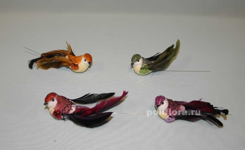 Птица из перьев фото