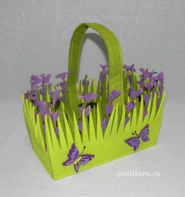 Кашпо для цветов из фетра