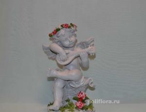 Ангел с розами и домрой  32 см OY145-98088МА