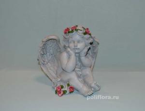 Ангел с розами сидит 21 см OY145-98516МА