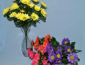 Ромашки, Троица, искусственные цветы, красивые, недорого, цветы на кладбище, декор,пасха, ритуальные цветы, букеты искусственные