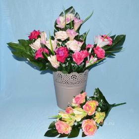 декор, цветы, букет, искусственные, пасха,троица, ритуальные