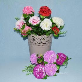 гвоздика, цветы, искусственные цветы, декор, красивые,украшение дома, цветок, интерьер, качество, недорого,купить цветы оптом, цветы на кладбище