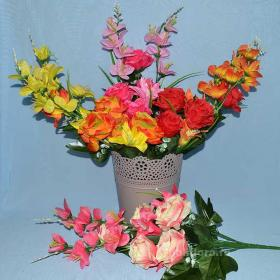 искусственные , цветы, букет, декор, троица, пасха