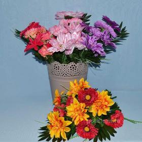 искусственные , цветы, букет, декор, пасха, тройца