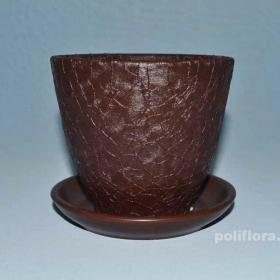 Тюльпан Шелк коричневый, керамика, цветы, горшки