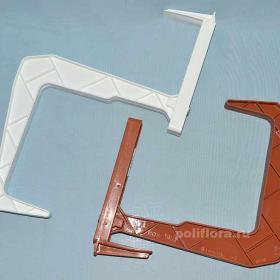 Балконный крюк пластик (ФПл) шт. белый, терра
