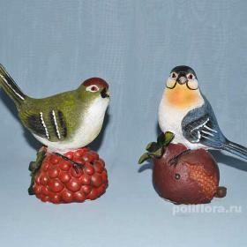Птицы на фруктах