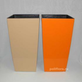 Финезия кашпо 250x250x465 кремовый, апельсиновый