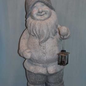 Гном серый с фонарем  KP-11Y37CH-39.5