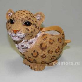 Леопард , кашпо для цветов, кашпо из полистоуна, детям, фигурка кашпо, горшок для цветов, декорация цветов, качество,  зоокашпо из полистоуна,  оригинальный внешний вид, долговечный, декор