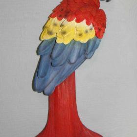 Поилка Попугай красный