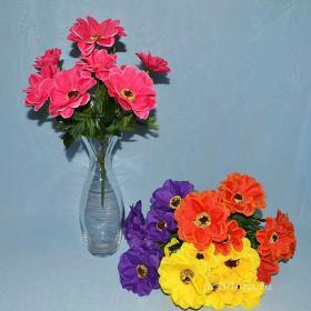 Анемона, Троица, искусственные цветы, красивые, недорого, цветы на кладбище, декор,пасха, ритуальные цветы, букеты искусственные