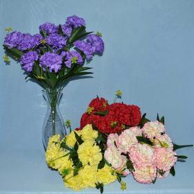 Гвоздика, Троица, искусственные цветы, красивые, недорого, цветы на кладбище, декор,пасха, ритуальные цветы, букеты искусственные