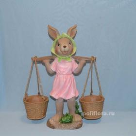 ландшафтный дизайн, фигуры для сада, садовые фигуры, ландшафтная фигура, фигурка, китай , полистоун, заяц, зайчик, кролик, с фонарем, фонарь, как живой, красивый, дешево, распродажа, высокое качество, украшения , декор, светильник, оригинальные, в галстуке, в платье, мальчик, девочка, в панамках, цветные, зайчата, с коромыслом, мультяшные, маленькие, выполнены из смолы