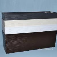 Бегония ящик плетенка белый, графитовый, корич (мокка), кремовый резной
