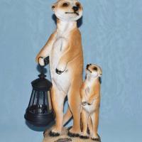 Сурикат  с фонарем 38 см WGMY027