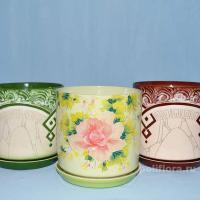 красивые, горшки, цветы, декор, керамика