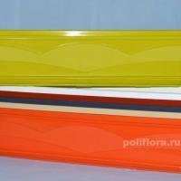 Балк. кашпо с поддоном антрацит, белый, кремовый, оранжевый, терракот, фисташковый
