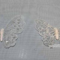 Декор-Бабочки 15 см (марля-клипса) 0185-15
