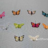 Декор-Бабочки 6 см 24 шт. уп. (перо клипса) 2453-6