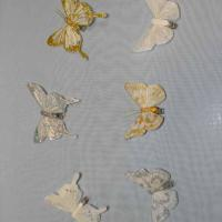 Декор-Бабочки 8 см 12 шт. уп. (перо клипса) 2391-8