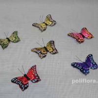 Декор-Бабочки 8 см (перо-клипса) 0081-8