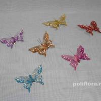 Декор-Бабочки 9,5 см (перо-клипса) 0138-9,5