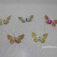 Декор-Бабочки 9 см 12 шт.уп. (перо клипса) 0145-9