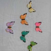 Декор-Бабочки 9 см (перо-клипса) 0015-9