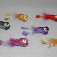 Декор-Птички 10 см (перо-клипса) 2294-10