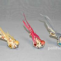 Декор-Птички 14 см (перо-клипса) 0211-14