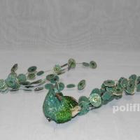 Декор-Птички 27,5 см (ткань-клипса) 2430-27,5