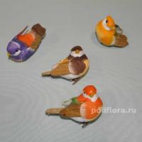 Декор-Птички 6,5 см (перо-клипса) 0218-6,5