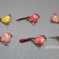 Декор-Птички 6,5 см (перо-клипса) 2204-6,5