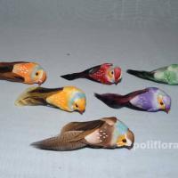 Декор-Птички 6,5 см (перо-клипса) 2789-6,5