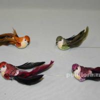 Декор-Птички 9 см (перо-проволока) 2190-9