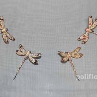 Декор-Стрекозы 7,5 см (ткань-клипса) 0302-7,5