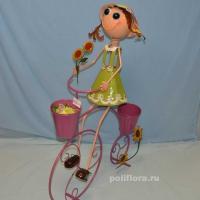 Девочка на велосипеде 98 см мет. NA14A566