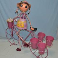 Девочка с велосипедом 103 см мет. NA14A570