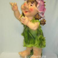 Девочка в зеленом  платье  68 см NF28575