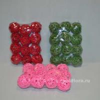 DY532 Шарики 12 штук 19х14х5 красный; DY534 Шарики 12 штук 19х14х5 темно-зеленый; DY544 Шарики 12 штук 19х14х5 розовый