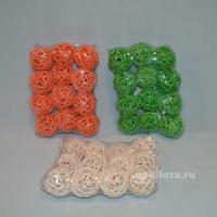 DY539 Шарики 12 штук 19х14х5 оранжевый; DY543 Шарики 12 штук 19х14х5 зеленый; DY536 Шарики 12 штук 19х14х5 белый