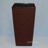 Финезия кашпо 250x250x465 плетенка коричневый
