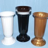 Флакон Флора мрамор, черный, белый, бронзовый, темно-коричневый
