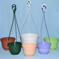 Флокс горшок с подст. подвесной  бежевый, зеленый, сиреневый,салатовый,терракота,мраморный