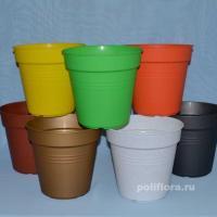Глория кашпо с поддоном бронзовый, гранит, мрамор, оранжевый, светло-зеленый, темно-желтый, терракот, темно-сиреневый