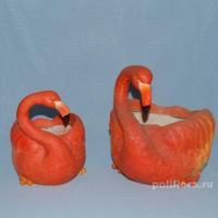 Кашпо-Фламинго мал. 17 см  HA 07071S, Кашпо-Фламинго бол.  27 см   HA 07071L