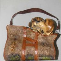Кашпо - Cумка с щенками 28 см LPG06520A