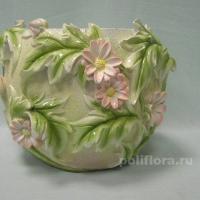 Кашпо - Цветы  16 см  HA08152